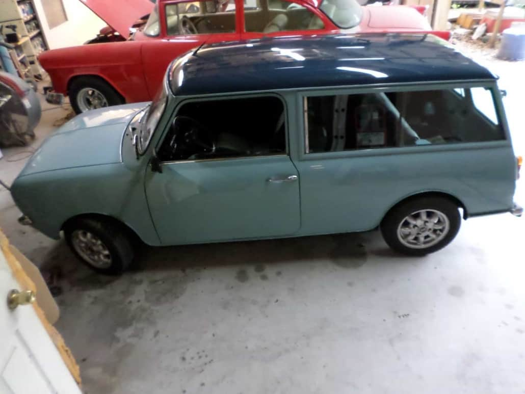 Paint by Chester Vintage Blue Car